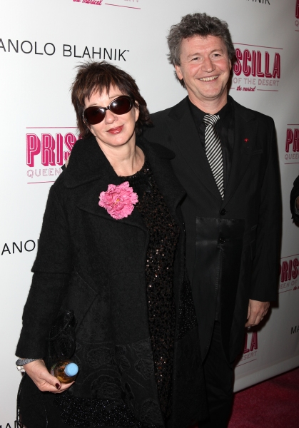 Director Simon Phillips and wife Carolyn Burns attending the Broadway opening Night P Photo