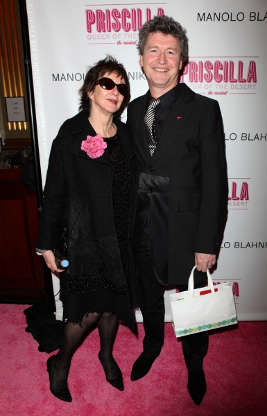 Director Simon Phillips and wife Carolyn Burns attending the Broadway opening Night Performance of 'Priscilla Queen of the Desert - The Musical' at the Palace Theatre in New York City.