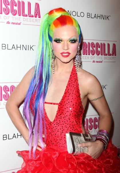 Vanity Fair attending the Broadway opening Night Performance of 'Priscilla Queen of the Desert - The Musical' at the Palace Theatre in New York City.