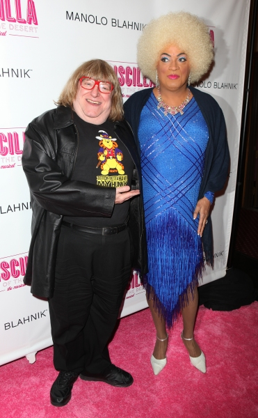 Bruce Vilanch & Flotilla DeBarge attending the Broadway opening Night Performance of 'Priscilla Queen of the Desert - The Musical' at the Palace Theatre in New York City.