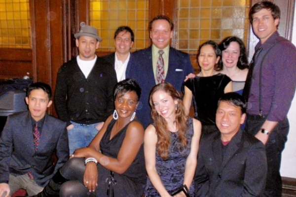 The cast of Monster. (top, l-r) Daniel Le, Kaipo Schwab, Justin R. G. Holcomb, Tran T. Thuc Hanh, Patricia Randell, Brad Lewandowski. (front, l-r) Claro de los Reyes, Tonia Jackson, Deanna Gibson, Derek Nguyen. at Pan Asian Repertory Theatre Celebrates Opening Night of WE ARE