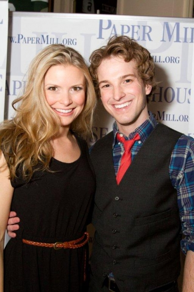 Justin Bowen and Chelsea Krombach at Paper Mill's FORUM Celebrates Opening Night