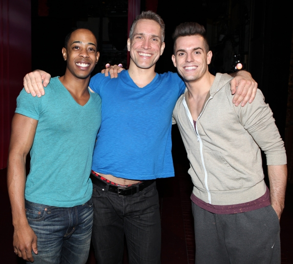 Amaker Smith, Mike McGowan & Kyle Brown attending the Broadway Opening Night Gypsy Robe Ceremony for 'Priscilla Queen of the Desert - The Musical' at the Palace Theatre in New York City.