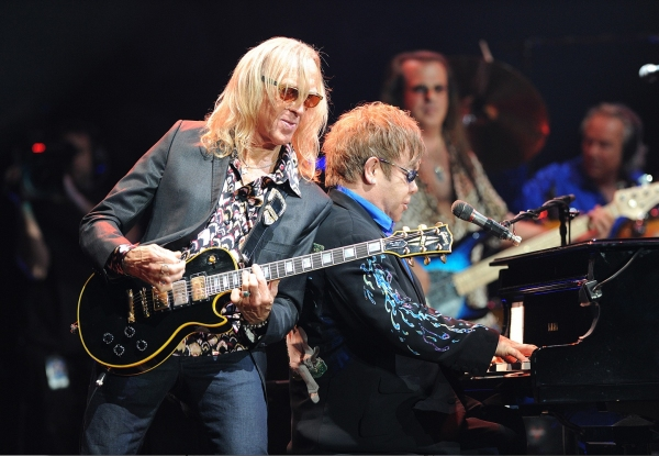 Davey Johnstone and Elton John