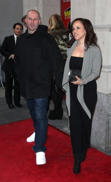 Rosie Perez & Boyfriend attending the Broadway Opening Night Performance of  'Ghetto Klown'  at the Lyceum Theatre in New York City. at GHETTO KLOWN Opening Night Arrivals