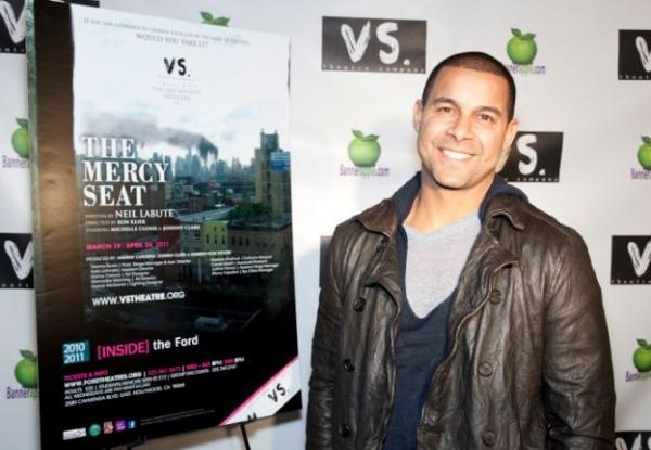 Jon Huertas at MERCY SEAT Celebrates Opening Night