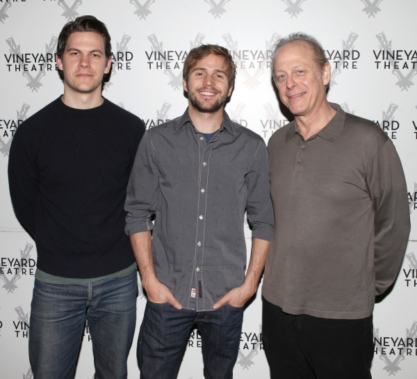 Tom Lipinski, Michael Stahl-David & Mark Blum attending the Meet & Greet the cast & creatives for the Off-Broadway World Premiere of 'PICKED' at the Vineyard Theatre in New York City.