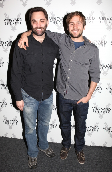 Playwright Christopher Shinn & Michael Stahl-David attending the Meet & Greet the cast & creatives for the Off-Broadway World Premiere of 'PICKED' at the Vineyard Theatre in New York City.