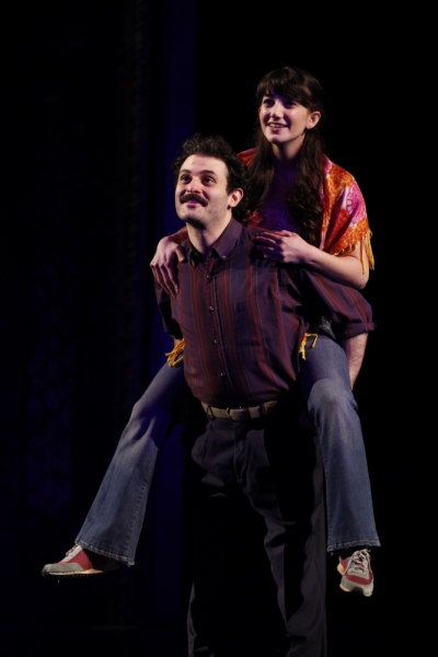 Arian Moayed and Sheila Vand at BENGAL TIGER AT THE BAGHDAD ZOO on Broadway!