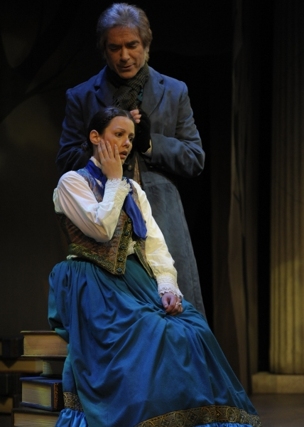 Katherine Michelle Tanner (Margaret Fuller) and Eric Zivot (Emerson). Photo by Tony Firriolo. http://www.orlandoshakes.org