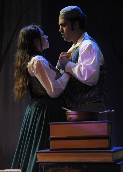 Katherine Michelle Tanner (Margaret Fuller) and Walter Kmiec (Count O). Photo by Tony Firriolo. http:///www.orlandoshakes.org