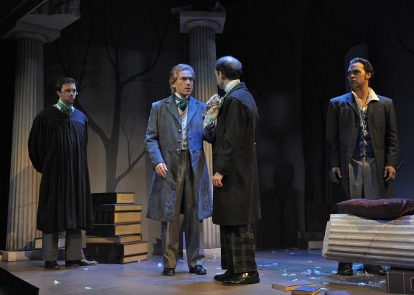 Trent Fucci (Brownson), Eric Zivot (Emerson), Brandon Roberst (Thoreau), and Walter K Photo