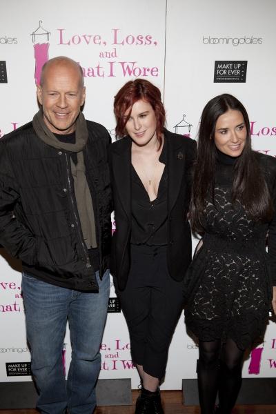 Bruce Willis, Rumer Willis and Demi Moore Photo