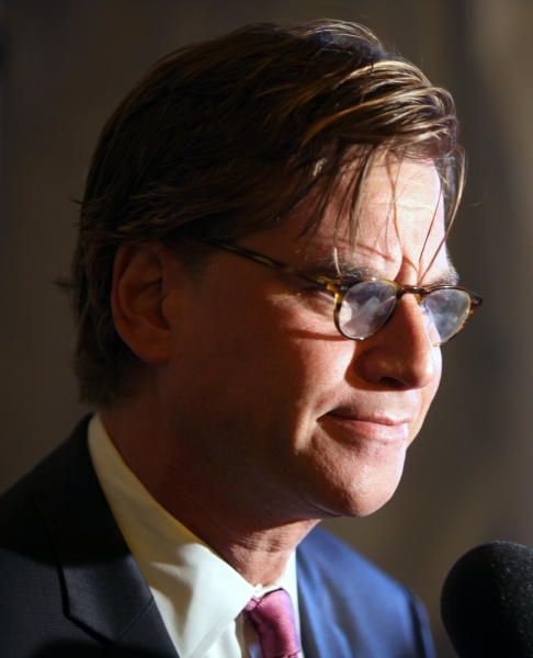 Aaron Sorkin attending the Broadway Opening Night Performance of 'The Book Of Mormon' at The Eugene O'Neill Theatre in New York City.
