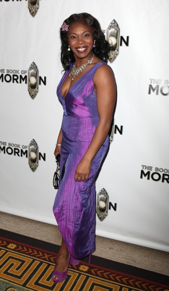 Darlesia Cearcy  attending the Broadway Opening Night After Party for 'The Book Of Mormon' at Gotham Hall in New York City.