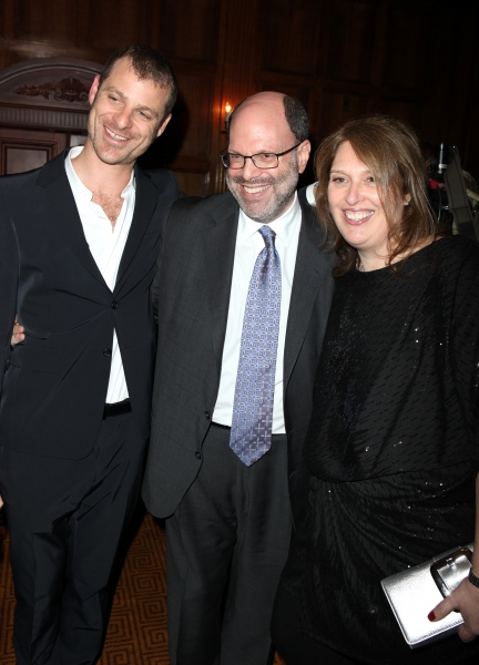 Matt Stone, Scott Rudin & Anne Garefino attending the Broadway Opening Night After Party for 'The Book Of Mormon' at Gotham Hall in New York City.