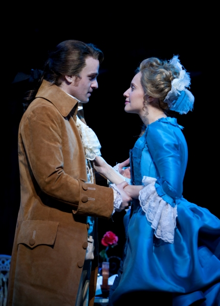 Geoff Packard as Liberty Smith and Kelly Karbacz as Emily Andrews Photo