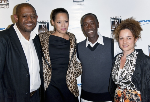 Forest Whitaker, Keisha Whitaker, Don Cheadle and Brigid Coulter
