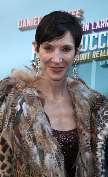 Amy Fine Collins attending the Broadway Opening Night Performance of  'How to Succeed in Business without Really Trying' at the Al Hirschfeld Theatre in New York City.