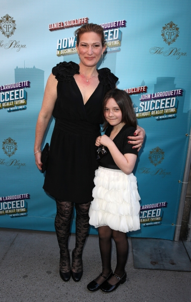 Ana Gasteryer & Daughter Frances Mary McKittrick attending the Broadway Opening Night Performance of  'How to Succeed in Business without Really Trying' at the Al Hirschfeld Theatre in New York City.
