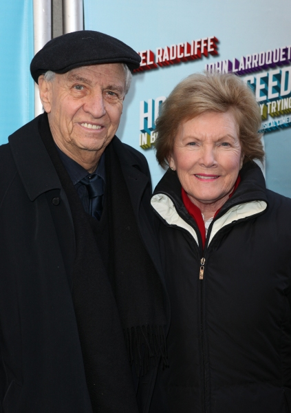 Gary Marshall & wife Barbara attending the Broadway Opening Night Performance of  'How to Succeed in Business without Really Trying' at the Al Hirschfeld Theatre in New York City.