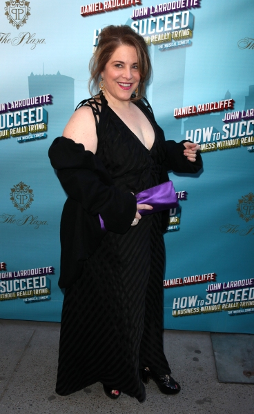 Claudia Shear attending the Broadway Opening Night Performance of  'How to Succeed in Business without Really Trying' at the Al Hirschfeld Theatre in New York City.