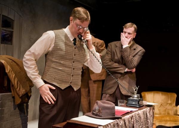 Matt Shimkus, front, as Dietrich Bonhoeffer, with Simon Pringle