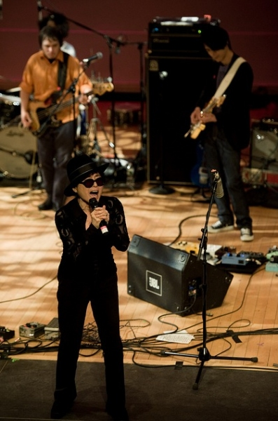 Yoko Ono at Yoko Ono, Sean Lennon, & More Perform at Miller Theatre's Benefit for Japan