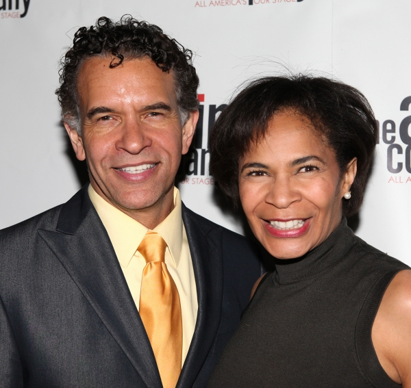 Brian Stokes Mitchell & Allyson Tucker attending the After Party for  'Angela Lansbury and Friends Salute Terrence McNally' - A Benefit for the Acting Company in New York City.