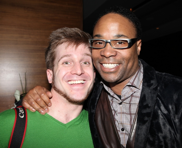 Tristan Fuge & Billy Porter attending the After Party for  'Angela Lansbury and Friends Salute Terrence McNally' - A Benefit for the Acting Company in New York City.