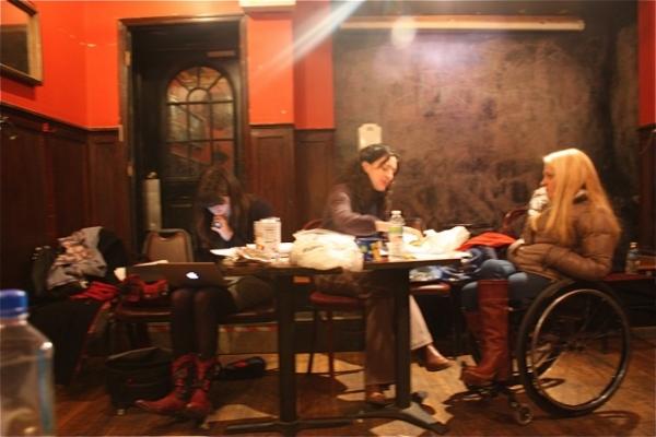 Maya Macdonald, Julie Kline, and Ali Stroker