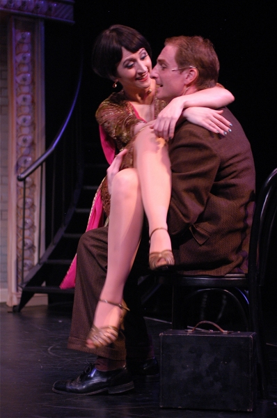 Kendal Hartse as Sally Bowles and Brett Aune as Clifford Bradshaw