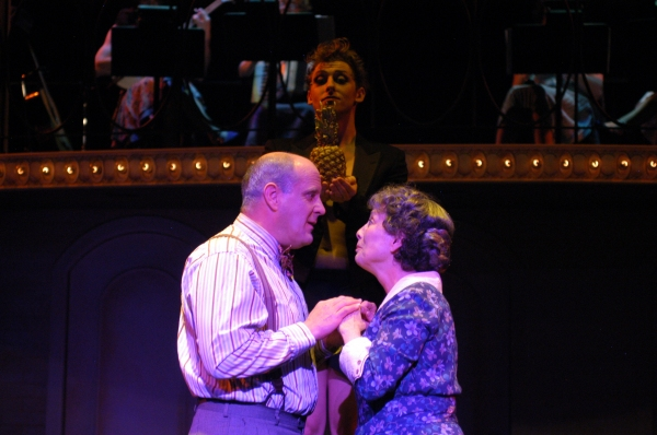 Wayne Kennedy as Herr Schultz, Kendal Hartse as Sally Bowles and Leo Ash Evens as the Photo
