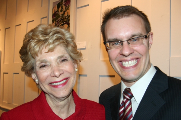 Margot Astrachan with Carl Forsman, Artitstic Director, Keen Company