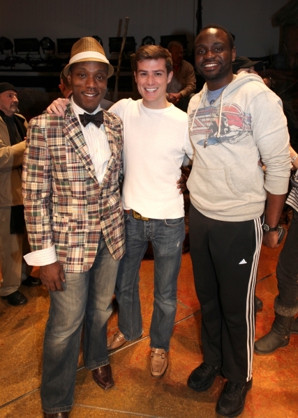 Broadway Debuts: Tyson Jennette, Nick Spanger & Brian Tyree Henry attending the Broadway Opening Night Gypsy Robe for 'The Book Of Mormon' and the Gypsy Robe recipient Michael James Scott at The Eugene O'Neill Theatre in New York City.