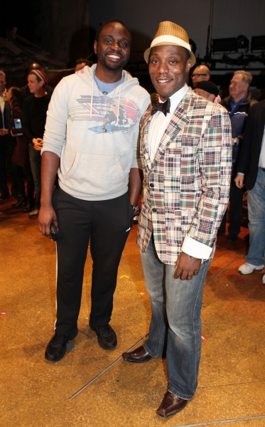 Broadway Debuts: Brian Tyree Henry & Tyson Jennette attending the Broadway Opening Night Gypsy Robe for 'The Book Of Mormon' and the Gypsy Robe recipient Michael James Scott at The Eugene O'Neill Theatre in New York City.