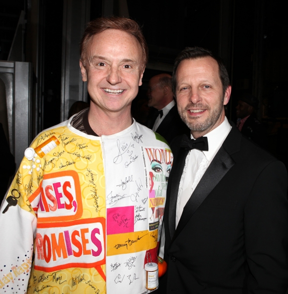 Cleve Asbury (Recipient), Rob Ashford attending the Broadway Opening Night Gypsy Robe Ceremony for Recipient Cleve Asbury in 'How to Succeed in Business without Really Trying' at the Al Hirschfeld Theatre in New York City.