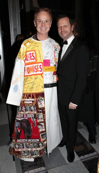 Cleve Asbury & director Rob Ashford attending the Broadway Opening Night Gypsy Robe Ceremony for Recipient Cleve Asbury in 'How to Succeed in Business without Really Trying' at the Al Hirschfeld Theatre in New York City. at HOW TO SUCCEED Gypsy Robe Ceremony!