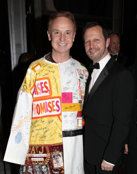 Cleve Asbury & director Rob Ashford attending the Broadway Opening Night Gypsy Robe Ceremony for Recipient Cleve Asbury in 'How to Succeed in Business without Really Trying' at the Al Hirschfeld Theatre in New York City.