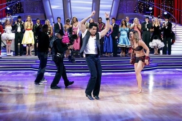 "DANCING WITH THE STARS THE RESULTS SHOW - ""Episode 1202A"" - ""Psycho"" Mike Catherwood and Lacey Schwimmer were the first couple eliminated from the competition on the 12th season premiere of ""Dancing with the Stars the Results Show,"" TUESDAY, MARCH 29 (9:0"