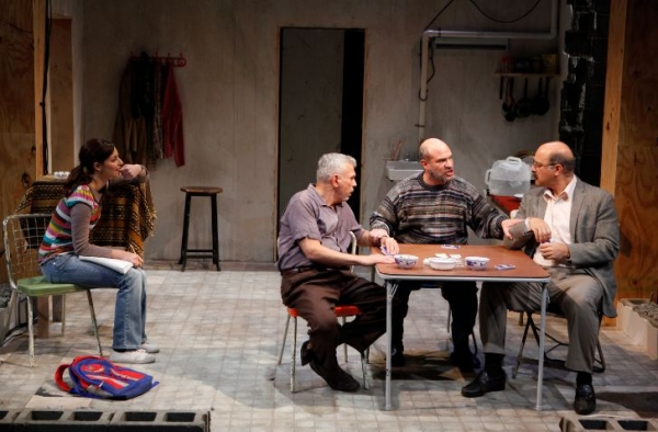 Tala Ashe, Ted Sod, Demosthenes Chrysan and Ramsey Faragallah at Public Theater's URGE FOR GOING