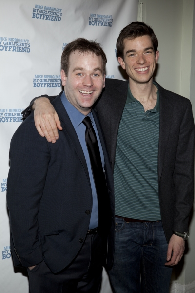 Mike Birbiglia and John Mulaney at Mike Birbiglia's MY GIRLFRIEND'S BOYFRIEND Opens Off-Broadway