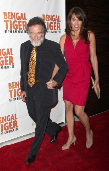 Robin Williams & Susan Schneider attending the Broadway Opening Night After Party for 'Bengal Tiger at the Baghdad Zoo' at espace in New York City