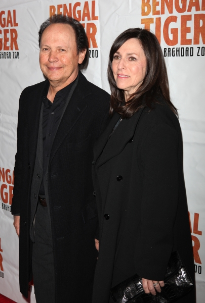 Billy Crystal & wife Janice attending the Broadway Opening Night Performance of 'Bengal Tiger At The Baghdad Zoo' at the Richard Rodgers Theatre in New York City. at BENGAL TIGER AT THE BAGHDAD ZOO Starry Theatre Arrivals