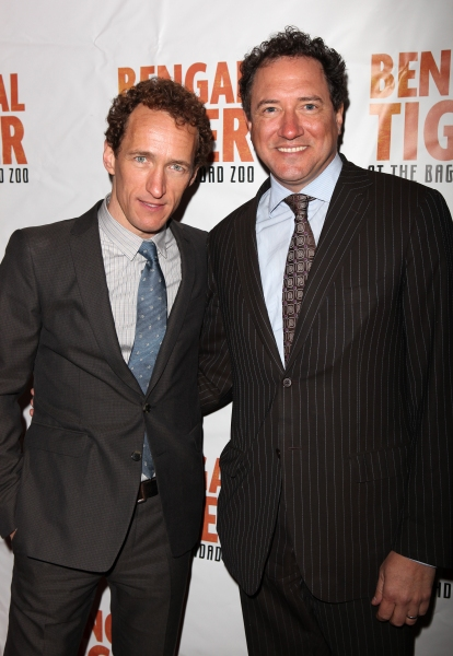 Jeffrey Seller & Kevin McCollum attending the Broadway Opening Night Performance of 'Bengal Tiger At The Baghdad Zoo' at the Richard Rodgers Theatre in New York City.