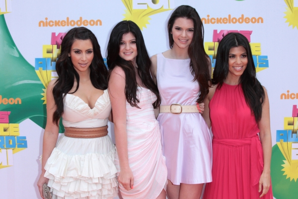 Kim Kardashian, Kendall Jenner, Kylie Jenner, Kourtney Kardashian at The 2011 Nickelodeon Kids Choice Awards Arrivals
