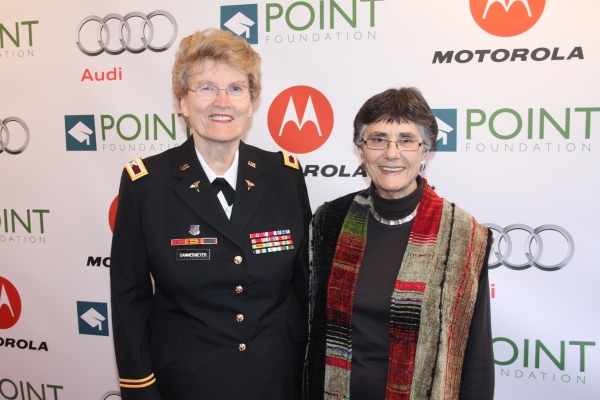 "Point Legend Award Honoree Col. Margarethe ""Grethe"" Cammermeyer and Diane Divelbess"