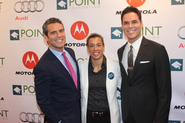 Andy Cohen, Katie Miller and Jorge Valencia Photo