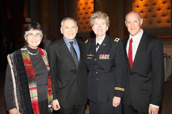 """Diane Divelbess, Craig Zadan, Col. Margarethe """"Grethe"""" Cammermeyer and Neil Meron"""