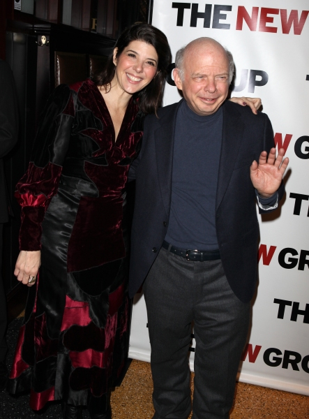 Marisa Tomei & Wallace Shawn attending the Off-Broadway Opening Night Party for The New Group Revival of Wallace Shawn's 'Marie And Bruce' in New York City.  at MARIE & BRUCE Opening Night Party